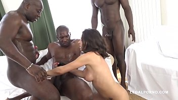 Interracial double penetration_orgy shows Henessy swallowing 3 black monster cocks Thumbnail