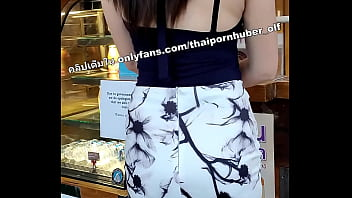 Thai horny beauty clinic girl squirting with dilldo in shopping mall toilet