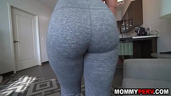 Hot mommy in yoga pants seduces step son