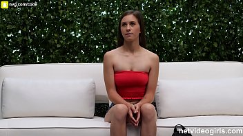 Perky Tit 20 something fucks during calendar audition and loves it