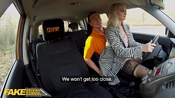 Fake Driving School hot blonde sexy european super babe fucked