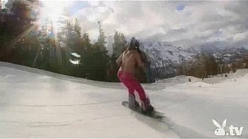 Hot Nude Girls Snowboarding!