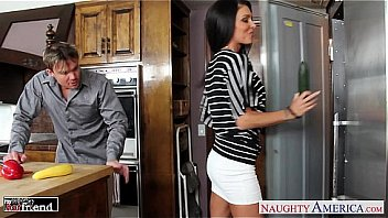 Jessica Jaymes getting drilled in the kitchen