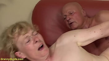 extreme ugly hairy bush saggy tits old granny enjoys a rough big cock fucking to her 80 birthday