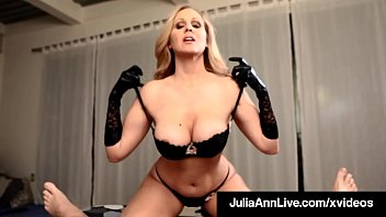 Dick Milking Milf Julia Ann slides her gloved hands on a throbbing hard cock, causing this lucky dick to shoot his load on her covered digits! Full Video & Julia Ann Live @ JuliaAnnLive.com!