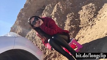 Chinese Girlfriend Fucked Outside Car in a Road trip