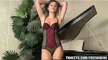 Little Caprice teases her fit body before fisting herself on cam