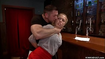 When a state inspector hot blonde Zoey Monroe gives a bar owner John Strong a surprises inspection soon after her ties and fucks her in basement