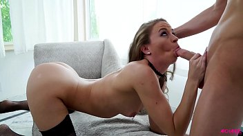 Cock sucking expert takes some cock in her mouth and begs for cum Thumbnail