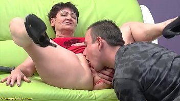 horny 74 year old mature gets extreme rough fucked by her toyboy