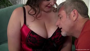 Fat brunette babe with huge natural tits gets fucked hard