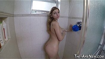 Inked amateur teens face showered in cum after suck and fuck in hd