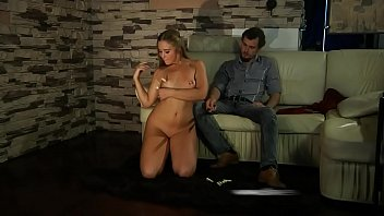 Pretty slave girl gets clothespins and electro t. in order to satisfy her Master.
