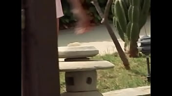 Happy beautiful whore enjoys two dicks in all her holes outdoor
