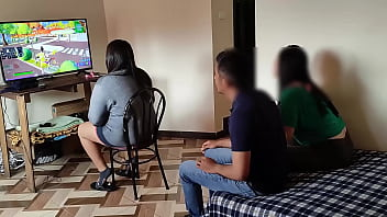 uncle with nieces: my nieces come to visit while I'm playing video games and I fuck one while the other keeps playing, they almost caught us