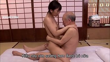 Japanese milf fucked by old man and gagged
