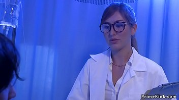 Hysterical patient ties sexy brunette doctor and anal bangs with big cock