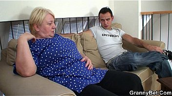 He helps blonde granny