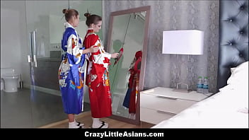 Cute Petite Tiny Asian Teen Stepdaughter Sex With Stepmom During Geisha Training