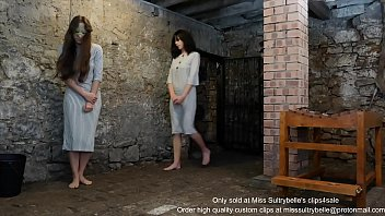 A severe caning for two beautiful prisoners.