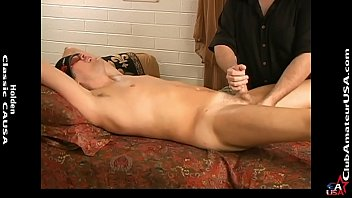 Ian's cock was hard and thick as I probed his prostate