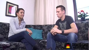 Sexy black girl and the german boy