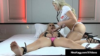 Nurse cristi ann licks amp monitors bound nina kayy in bed - 1 8