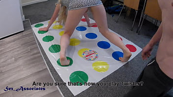 Twister with stepsister ended up with an amazing ride and creampie