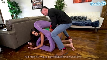 Young Babe Eliza needs help after getting stuck but not before getting fucked