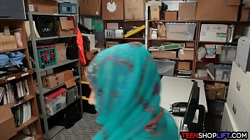 shop lifter caught and banged by a corrupted security guard in his back office