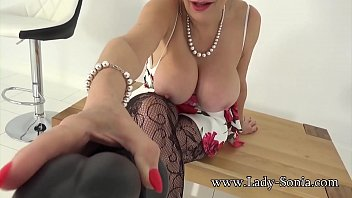 Naughty MILF wants to watch you wank while you suck on her dildo