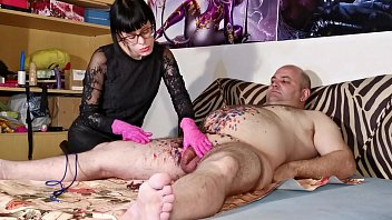Young mistress gives painful cbt for her old fat slave pt1 HD