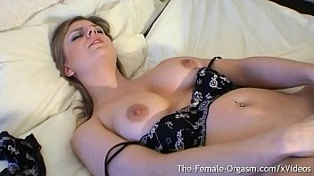 Sexy Babe with Perfect Breasts Finger Masturbates To String Wet Pulsing Orgasm