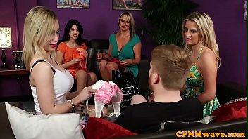CFNM eurobabes wanking off lucky dude