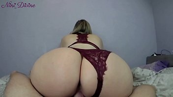 Nini Divine in very sexy lingerie getting her huge ass fucking pussy by her boyfriend!