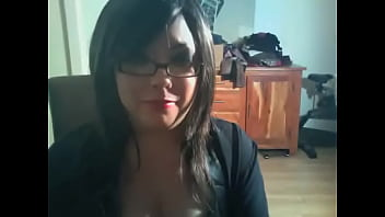 Chubby Domme Smokes 2 Cigarettes In Glasses