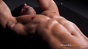 BDSM Muscle Jock Stretched & Milked By Kinky Master