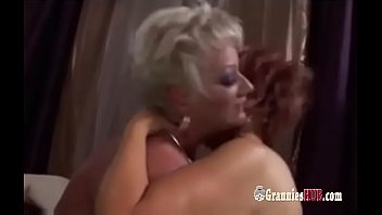Horny Bisexual Grannies And Young Stud Orgy