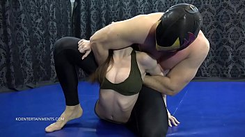 she is the perfect sexy victim, doesn't really have the tools to fight back, but this doesn't mean that she enjoys the painful and humiliating holds The Mexican executes on her...