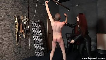 Watch Mistress Rebekka Knows How To Use a Whip - Redhead Cruel  Mistress Rebekka Raynor Whips Her Subman with no Mercy preview