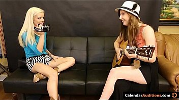 Hot Blonde Seduces Cute Teen At Audition