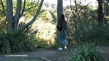 RISKY OUTDOORS PISS FUN IN LOCAL PARK BY HOT BROWN SKINNED ASIAN TINA