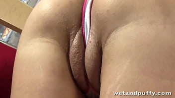 Gina Gerson is hot and horny and wants to show you exactly what makes her shaved pussy wet! Watch as she sucks her lips right into a petite pussy pump!
