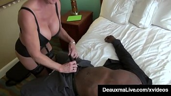 Sexy Southern Cougar, Deauxma, mounts, mouth fucks & pussy pounds a throbbing dark chocolate cock, milking her ebony man until she gets his cum! Full Video & Deauxma Live @ DeauxmaLive.com! Thumbnail