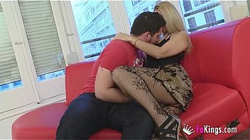 What a woman! Angie teaches a true sex lesson to her son's friend