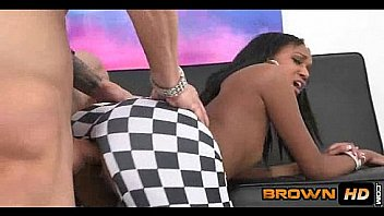 Ripping Through Skinny Black Girl Pussy