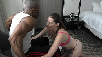 interracial action bbc cock worshipping deep throat sloppy blow job by a  brunette cheating house wife