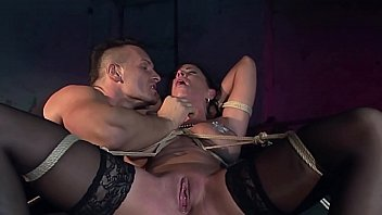 Busty slut, Andy Moon squirts while her G-point is teased hard by her Master.