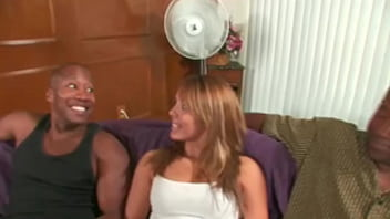 Interracial housewife banged