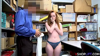 Redhead shoplifting girl got punished for stealing